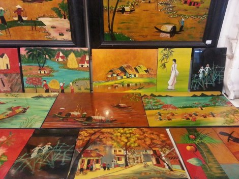 Lacquer paintings
