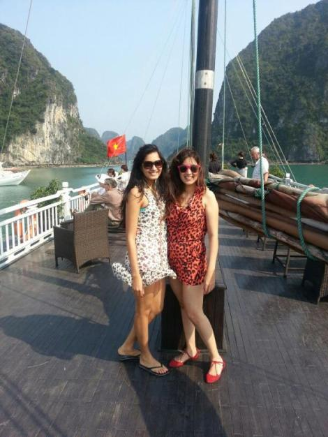 Me and Parvarti in Halong Bay