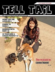 Me on the cover of Tell Tail
